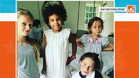 apple martin blue ivy beyonce s daughter blue ivy joins gwyneth paltrow s