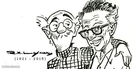 R K Laxman Sketches 20 best editorial by indian cartoonist rk