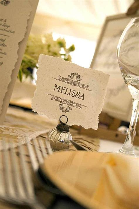 how to make wedding place setting cards vintage style wedding table place card by solographic notonthehighstreet