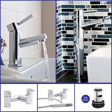 modern chrome bathroom sink taps basin bath filler shower