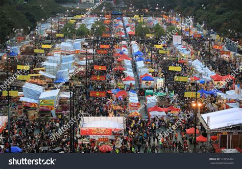 new year flower market park hong kongjanuary 29festival crowd cny flower stock photo