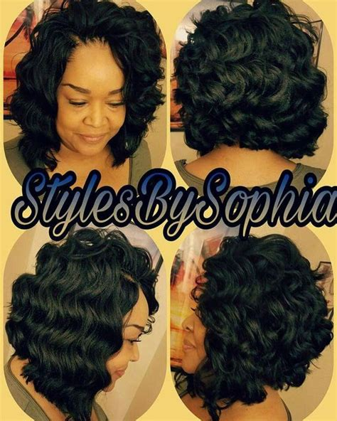 black hairstyles ocean waves crochet braids bob hair is ocean wave by kima this is so