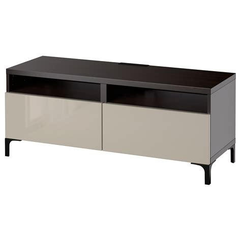 black tv bench best 197 tv bench with drawers black brown selsviken high