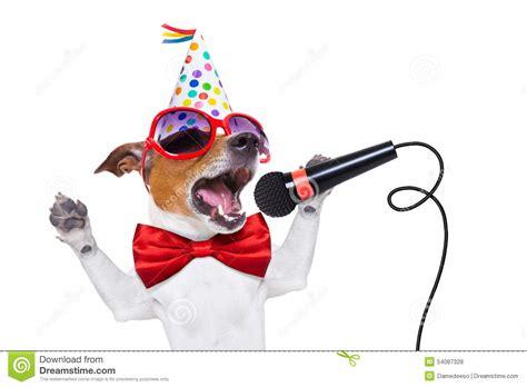 puppy singing happy birthday happy birthday singing stock photo image 54087328