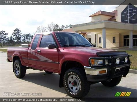 1993 Toyota 4x4 Garnet Pearl 1993 Toyota Deluxe Extended Cab
