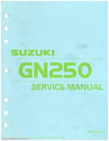 Suzuki Manual Suzuki Gn250 Service Manual