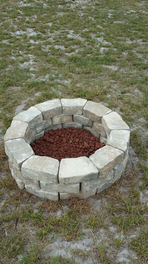 Do It Yourself Firepit Do It Yourself Pit Easy Cheap H O M E Pinterest