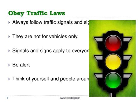 safety lights and signals what is road safety