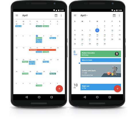 is bringing month view back to calendar for android - Android Calendar