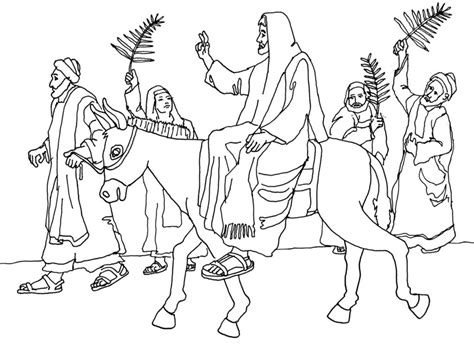 coloring page of jesus on palm sunday free coloring page palm sunday jesus enters jerusalem