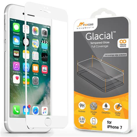 Iphone 7 47 Inch Hmc 3d Curved Tempered Glass roocase iphone 7 white border tempered glass screen