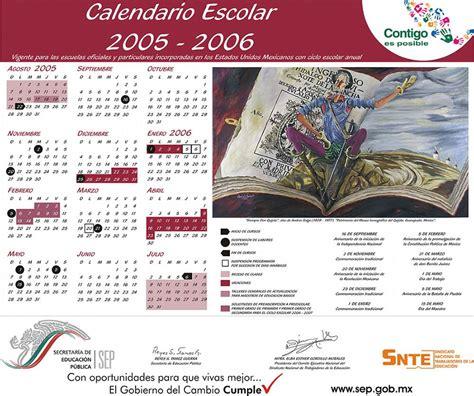 Calendario Escolar 2005 Cbtis 149