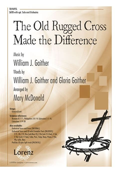 the rugged cross made the difference sheet the rugged cross made the difference