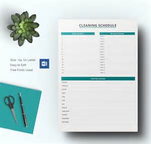 cleaning schedule template cleaning schedule template 33 free word excel pdf