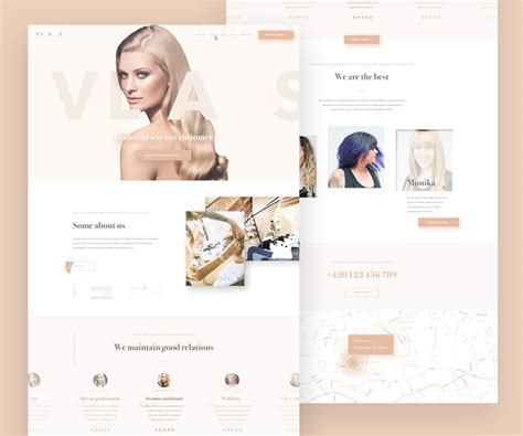 hair and beauty salon thereadpage the read page the beauty salon website template psd download download psd