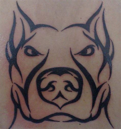 pitbull tribal tattoos tribal style pitbull ii by alexandros jorgetto on deviantart