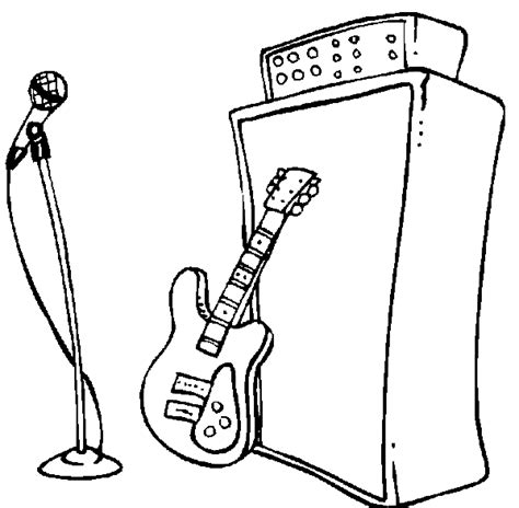 guitar player coloring page free coloring pages of color by number guitar