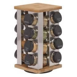 Kamenstein 16 Jar Spice Rack by Kamenstein 16 Jar Stainless Steel Revolving Spice Rack