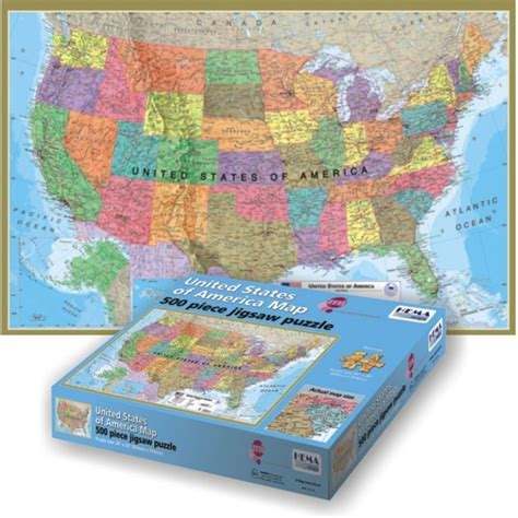 Usa Floor Puzzle by Usa Map 500 Pc Hema Floor Puzzle Educational Toys Planet