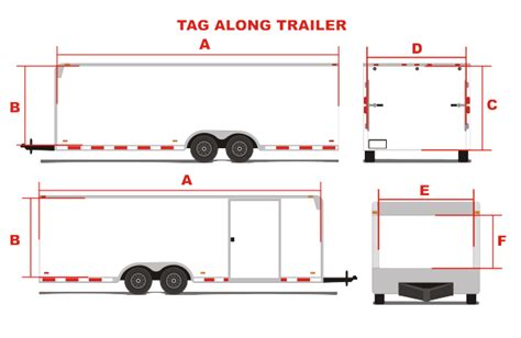 Tag Along Trailer Measurement Guide Trailer Wrap Design Templates