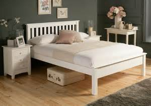White Wood Bed Frame Uk Shaker White Wooden Bed Frame Lfe