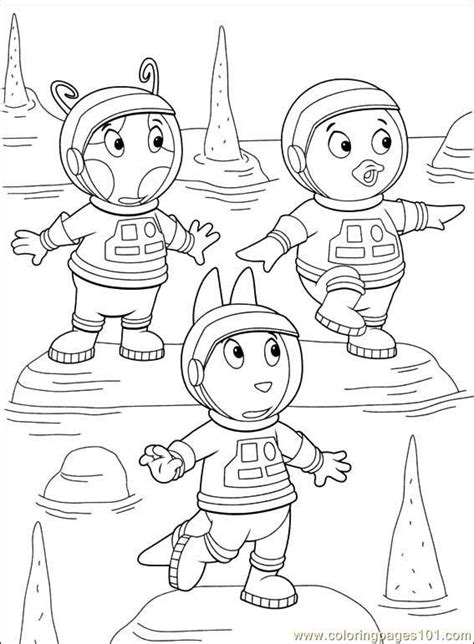 backyardigans halloween coloring pages bookmarks to color free printable coloring page