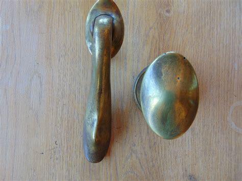 Knob Knocker by D229 0114 Antique Edwardian Brass Door Knocker And Door