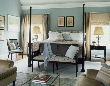 modern country style study farrow and powder blue