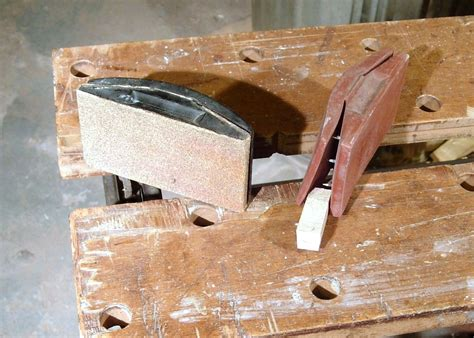 sanding detailed woodwork sanding block