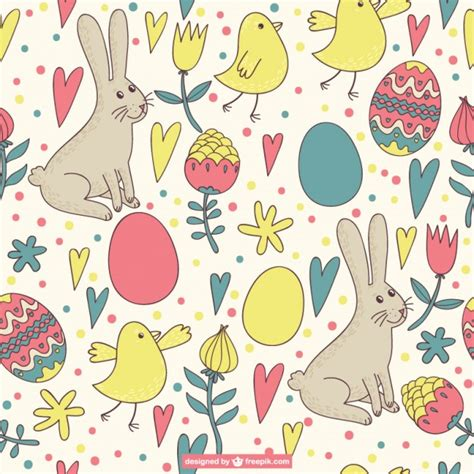 easter pattern easter pattern retro design vector free download