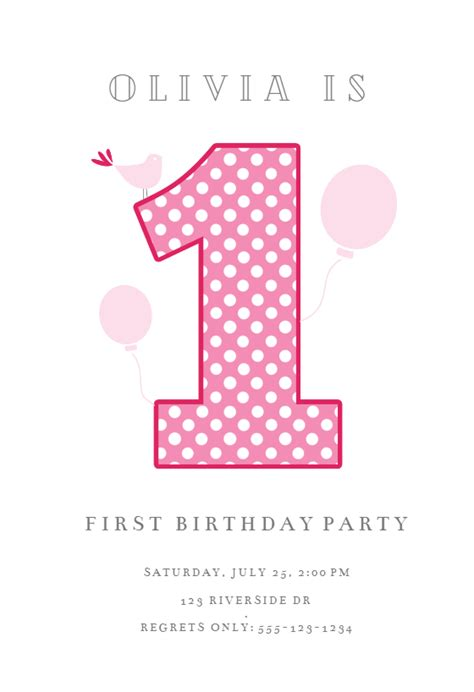 dotted  birthday invitation template