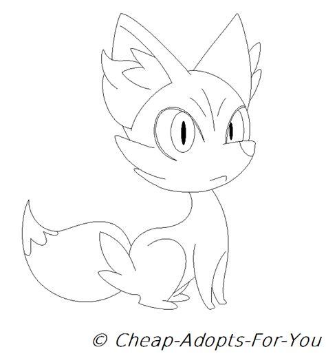 pokemon coloring pages fennekin pokemon fennekin coloring coloring pages