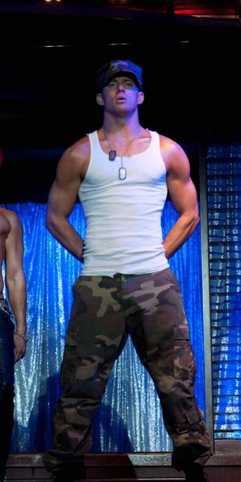 regular guys try magic mike channing tatum photos stripping and showing his beach body