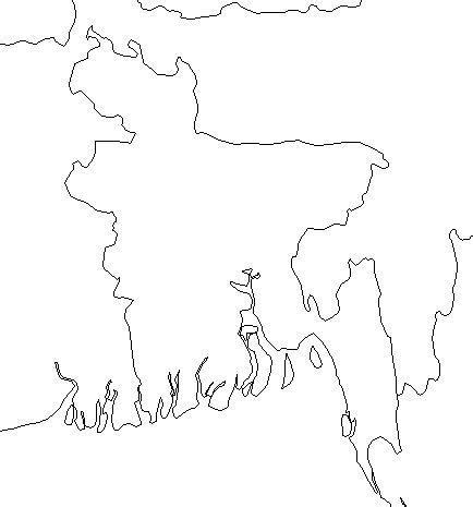 coloring page of bangladesh map geography blog bangladesh outline maps