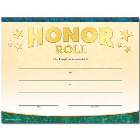 templates for honor roll certificates honor roll certificate template 3 best and various