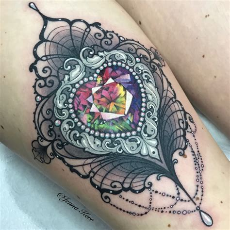 jewel tattoos multicoloured done at bristol