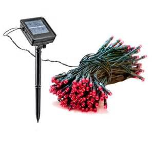 55 foot solar outdoor christmas holiday string lights with