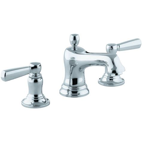 kohler bancroft bathroom sink faucet kohler k 10577 4 cp bancroft polished chrome two handle