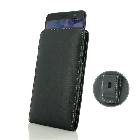leather clip pouch htc u play leather pouch with belt clip pdair sleeve holster