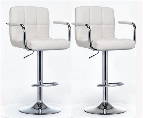 White Leather High Back Bar Stools by 2 X Varossa Elegance High Back Bar Stools White Set Of 2