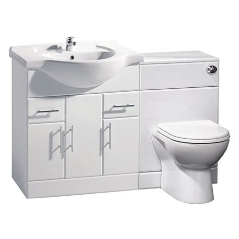 bathroom cabinets back to wall toilet basin sink suite