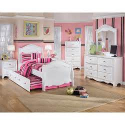 Twin Bedroom Sets Lydia Sleigh Bedroom Set With Twin Trundle Panel In White