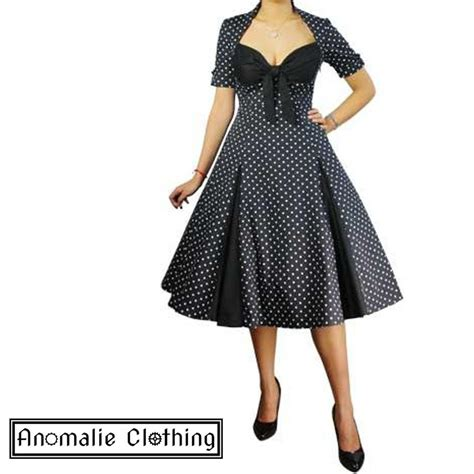 polka dot swing dress 1950s chic star black and white retro polka dot swing dress