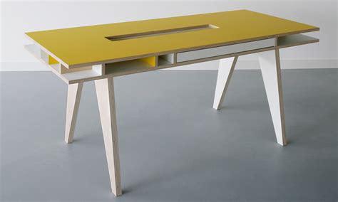 Plywood Desk Diy Insekt Desk By Kellie Smits For Arr 233 Design Homeli