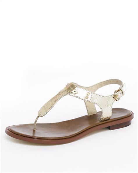 michael kors sandals gold michael kors michael logo plate sandal silver or