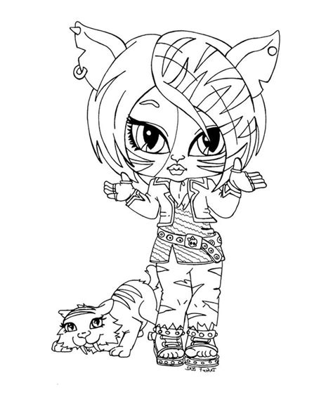 monster high coloring pages toralei stripe pin by anam daniels on small monster high pinterest