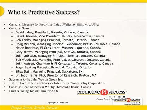 predictive index sle report human analytics and the predictive index may 2010