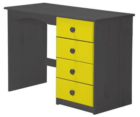 bureau enfant pin massif bureau enfant pin massif gris et jaune aladin