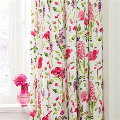 curtains flowers sanderson spring flowers 66 quot x 72 quot lined curtains at