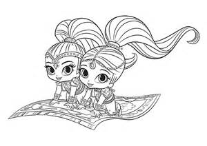 shimmer shine coloring pages download print free